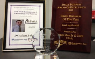 2016 Breaking Ground Small Business of the Year 2016 by the Bellevue Chamber